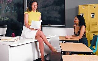 Teacher has lesbian sex with her student - Cherie Deville & Jeni Angel