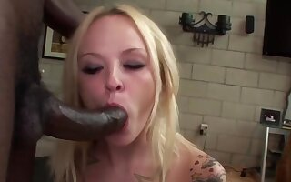 Cock hungry sluts taking big black dicks in mouth and give wonderful blowjobs