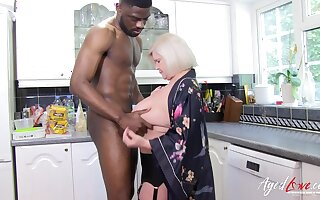 Busty mature lady got rough hardcore sex with big black cock
