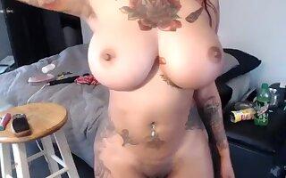 Amazing Homemade video with Piercing, Webcam scenes