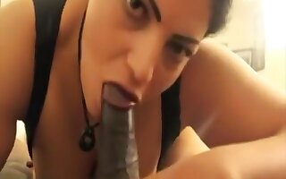 POV black dick sucking deep