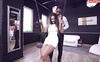 Stunning cutie Ginebra Belluci gets her irritant fucked by a black pauper