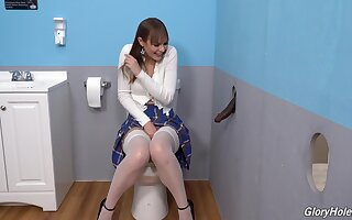 Gloryhole perfection shows the young amateur prostitute descending wild beyond everything the BBC
