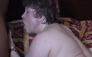 Raunchy whore hot interracial scene