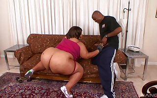 Full anal be advisable for be transferred to BBW nearly be transferred to end of a nasty blowjob tryout