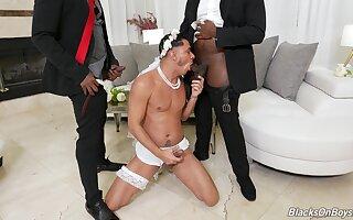 Wedding day careless threeway with Avatar Akiya, Cesar Xes plus Micah Martinez