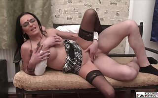 Real Untrained MILF makes Love with Driver